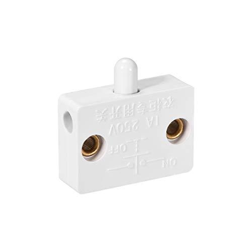 sourcing map Schranktür Lichtschalter normalerweise geschlossen 110-250V 1A weiß