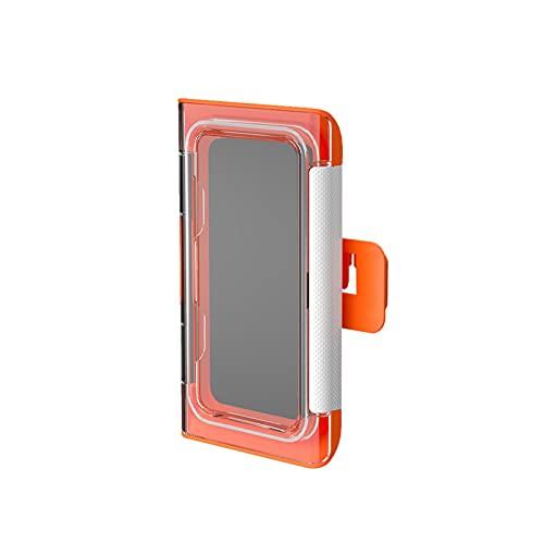 Soporte para teléfono de ducha, pared impermeable, antiempañamiento con pantalla táctil para baño, ducha, cocina, maquillaje, hasta 6.8 pulgadas