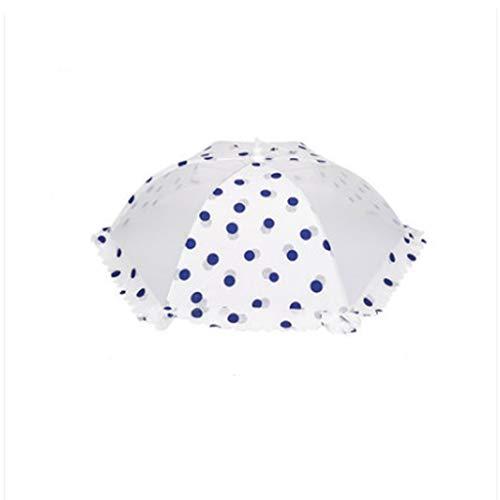 XYZMDJ Cubierta de plato plegable a prueba de polvo transpirable cubierta para mesa de comedor cubierta de comida sobrante cubierta vegetal