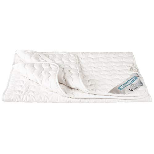 ARCTIC Protector de colchón, de alta calidad, acolchado, para proteger el colchón, de algodón puro, con certificado Oeko-Tex Standard 100-70 x 140 cm, color blanco