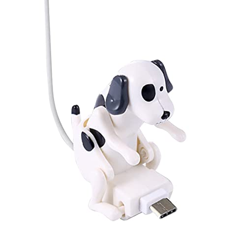 Clmcsf Cable de Carga para Perros callejeros, Juguete para Perros Mini Humping Spot, Cargador de Cable USB para teléfono Inteligente de Juguete para Perros, para iPhone, Interfaz Tipo C, Varios