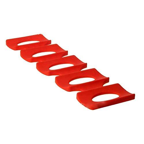 Titular de silicona Tin Can almacenamiento, rojo plegable Nevera lata de cerveza en rack Bandeja de almacenamiento Frigorífico herramienta Tidy Kitchen Mat organizador puede Fácil apilador para