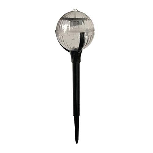 gazechimp Luces Solares de La Bola Del Acero Inoxidable de Cing Del Color Del LED O Decoración Del Arte de La Estaca