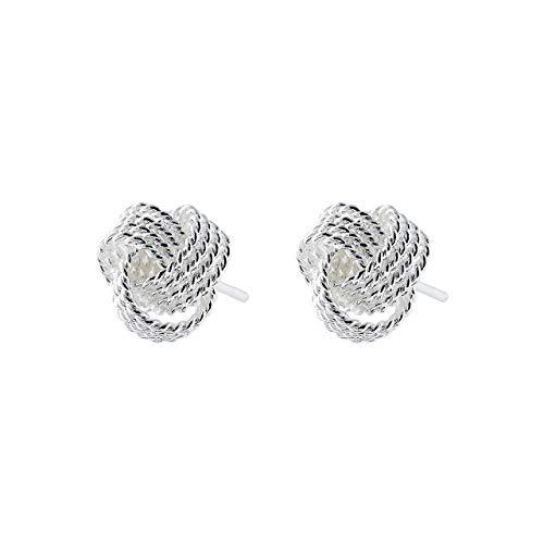 Selia Liebesknoten Ohrring circle Ohrstecker wolle Geschenk Glück minimalistische Optik 925 Silber