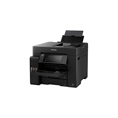 Epson EcoTank ET-5850 - Stampante multifunzione 4 in 1 (copia, scansione, stampa, fax, A4, ADF, Full Duplex, WiFi, Ethernet, display, USB 2.0), grande capacità, basso costo di pagina.