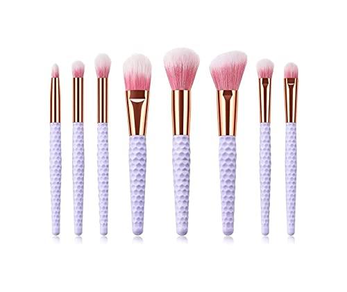 HMBB Pinceau de Maquillage 8 Honeycomb Maquillage Sets avec poignée Brosse Poli, À Pois, Correcteur-synthétique de Haute qualité Compact Mane
