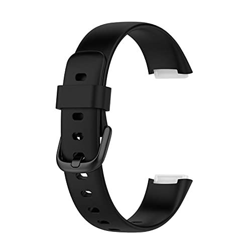 Pulsera compatible con Fitbit Luxe, transpirable, de silicona, deportiva, pequeña, grande para hombre y mujer