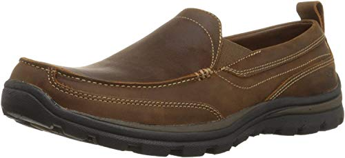 Skechers Relaxed Leather Boat Shoes Fit for Men