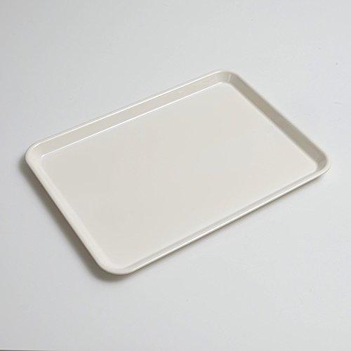 食洗機対応 ノンスリップトレー ホワイト 33cm(S) 白無地