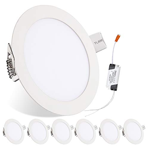 Hengda Juego de 6 focos LED redondos empotrables de 18 W, cambio de color, IP44, resistente al agua, para baño, dormitorio, cocina [Clase energética A+]