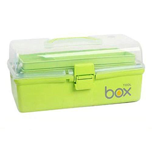 Dingyue Kit de ayuda de 3 capas con mango organizador de almacenamiento multifuncional 33,5 x 20 x 16 cm, kit de emergencia para el hogar