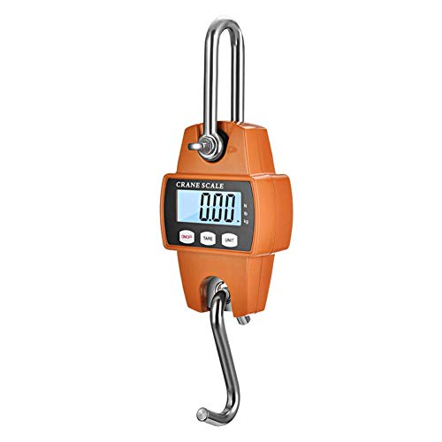 TXYFYP 300kg Hanging Weight Scale-Mini Digital Crane Scale with LCD Display Portable Heavy Duty Hanging Scale for Farm Luggage Fish Weight Kitchen