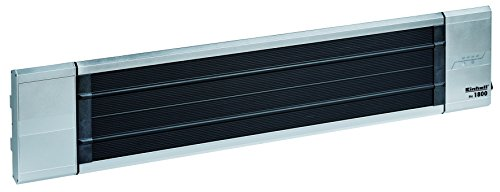 Einhell PH 1800 Elektrische terrasverwarmer, 1.800 W, maximaal verwarmingsvermogen, infrarood verwarmingselement, 2 warmtestanden, timer, afstandsbediening, voor wand- en plafondmontage).
