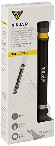TOPEAK Unisex-Adult Ninja P Fahrradpumpe (Mini), Black, One Size