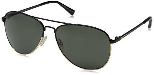 VonZipper Farva Aviator Sunglasses, Black/Gold/Grey, 59 mm
