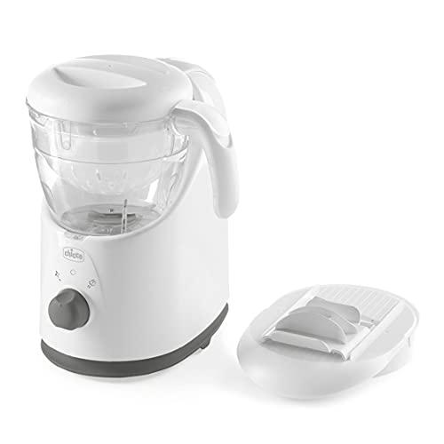 Chicco Easy Meal, Robot Cocina Bebé Multifunción para Destete, Mezclador de Alimentos y Calentador de Comida para Bebés y Niños con Cocción a Vapor, Ralla, Mezcla, Tritura, Calienta y Descongela