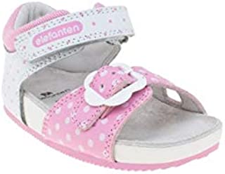 elefanten Girls -Toddler Comfort Open Toe Sandals with Velcro & Buckle Straps to Ensure A Perfect Fit, for Everyday Activities