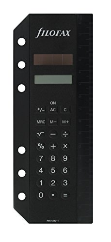 Filofax 134011 Personal Deskfax Solarrechner A5, schwarz