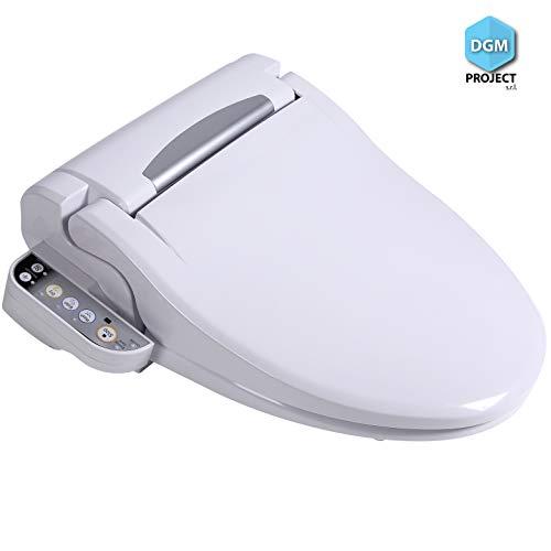 DGM Project s.r.l. Toilette électronique, avec télécommande. Abattant WC avec Bidet électronique, rinçage, Nettoyage, Massage et séchage
