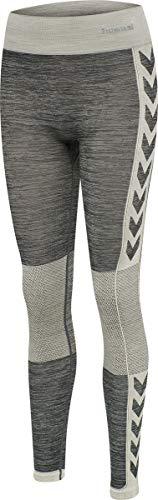 Hummel Damen Hml Clea Seamless Tights Leggings (Magnet Melange, XL/XXL)