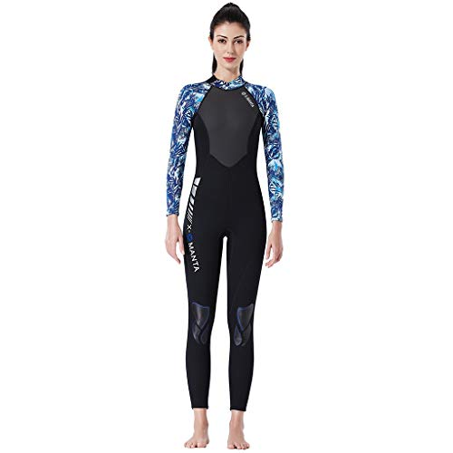 LOPILY Neoprenanzug Badeanzüge Damen Herren Schnelltrocknend Sonnenschutz Wassersport Anzug Wakeboarding Surfbekleidung Taucheranzug Anti-UV Badebekleidung(Blau,S)