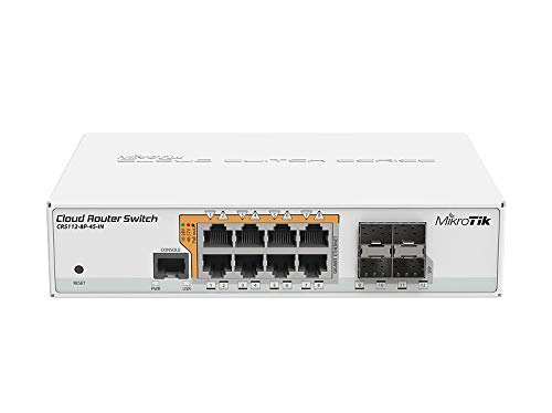 Mikrotik CRS112-8P-4S-IN switch Gigabit Ethernet (10 100 1000) Blanco Energía sobre Ethernet (PoE) - Switch de red (Gigabit Ethernet (10 100 1000), Energía sobre Ethernet (PoE))