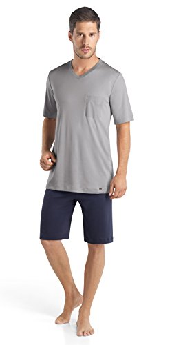 HANRO Herren Pyjama 1/2 Arm Night & Day (1162 mineral), Gr. XL