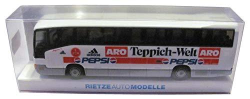 1.FC Nürnberg - Pepsi Cola & ARO Teppich Welt - MB O 404 RHD - Teambus - Reisebus - Bus - von Rietze