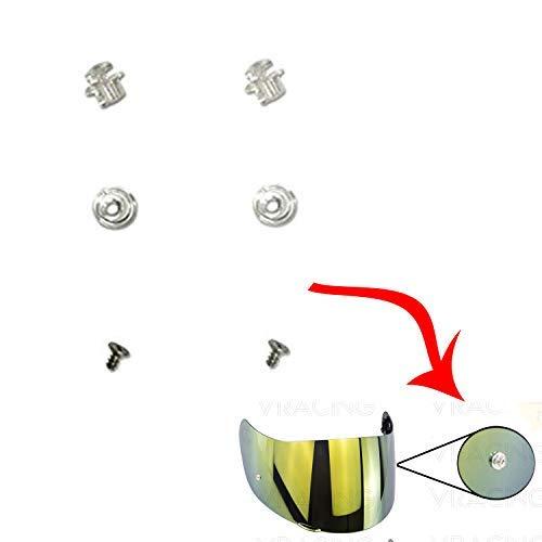 VRacing Par de pernos Pinlock Pins visera casco NEXX SX.100, X.D1, X.R2, X.T1, X.Vilitur .WST2-XR1.R,