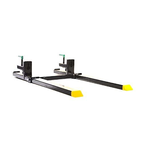 Titan Attachments Clamp On Pallet Forks with Stabilizer Bar 43' Pair Heavy Duty