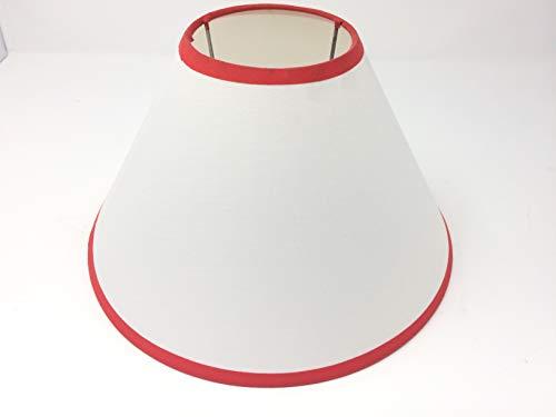 Rot weißer Stoff Ersatzschirm Schirm 25cm LAMPENSCHIRM Kronleuchter rot weiß Leuchtenschirm E27
