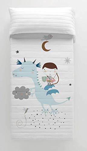 HACIENDO EL INDIO Colcha bouti Reversible Magic Dragon Cama 105 cm