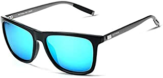 TT WARE Men Vintage UV400 Polarized Sunglasses Square Frame Outdooors Driving Glasses-Blue