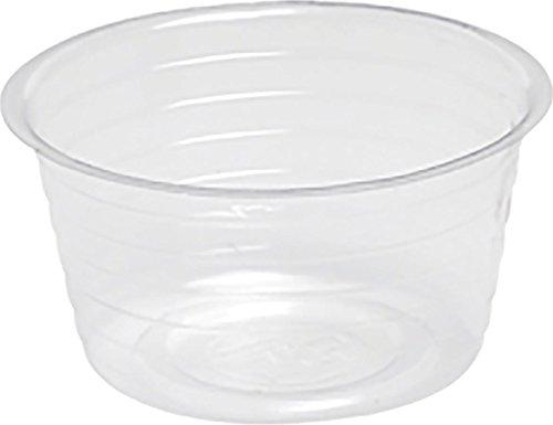 Bond 6-Inch Deep Dish Clear Plastic Saucers