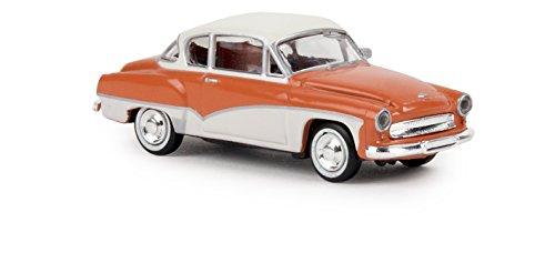 Brekina H0 Wartburg 311 Coupe lachsrot-Weiss