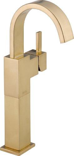 Delta Faucet Vero Vessel Sink Faucet, Single Hole Bathroom Faucet, Gold Bathroom Faucet, Single...