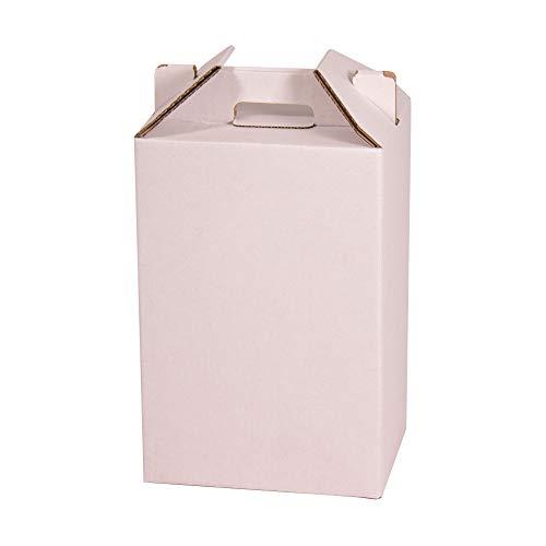 KARTOX | Caja para Vino | Estuche de 4 Botellas de Vino | Caja para Lote de Navidad |Color Blanco | 4 Unidades