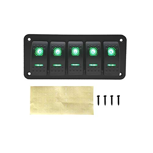 September Department Store 5 Pander Car LED Light Shirt Shirt Shirt FOR para EL CAMION DE Cara Caravan Caravan Trailer CUITO DE Circuito DE LA Caravana ON Off Toggle Marino Rocker Switch