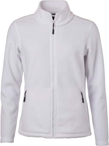 James & Nicholson Damen Fleece Jacke, Weiß (White), 36 (Herstellergröße: M)