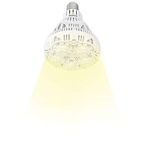 SANSI 24W LED Plant Light Bulb Full Spectrum LED Grow Light Plant Lights for Indoor Plants, E26 Grow Light Bulb for Hydroponics Greenhouse Houseplants Vegetable Tobacco, Sunlight White UV IR, 90 132V