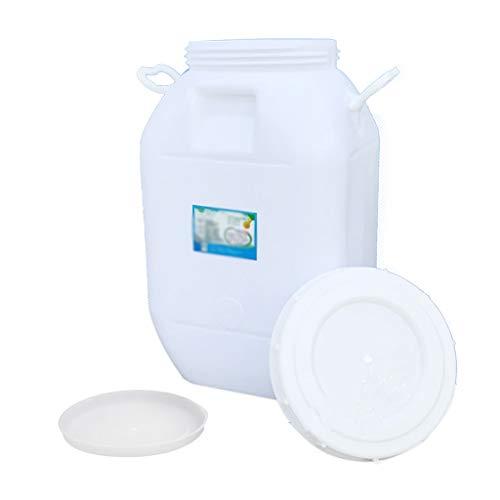 MORN Cubo de Deposito Agua Grande, Tanque de Agua de Plástico para Exteriores, Cubo Rectangular de Recolección de Agua de Lluvia Cubo de Enzima