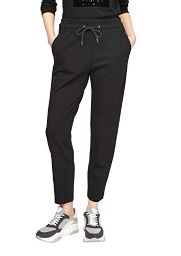 s.Oliver Damen Regular Fit: Interlock-Jogpants black 40