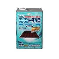 水性シリコンアクリルトタン用 緑 14L【代引不可】