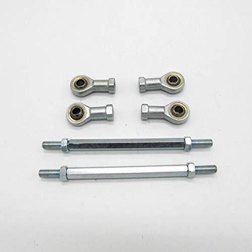 Rouku Juego de cojinetes de rótula de Extremo de Alta dureza de 2 Piezas 8mm Varilla de Rosca métrica Interna Femenina