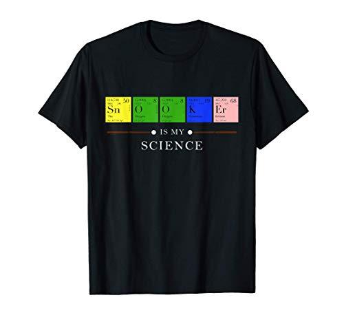 Snooker Is My Science Periodensystem Geschenk Snookerspieler T-Shirt