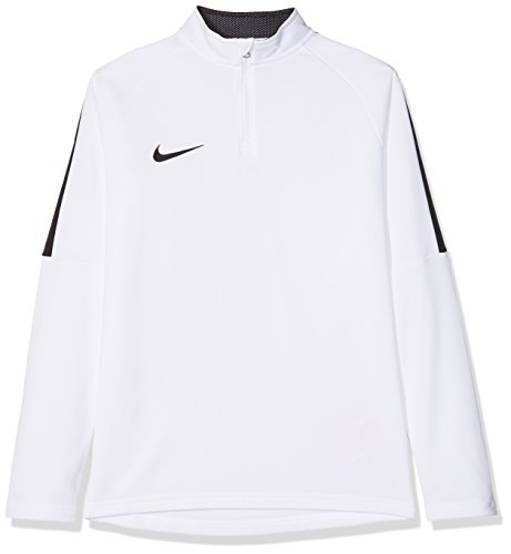 Nike Jungen Y NK Dry ACDMY18 DRIL TOP LS Long Sleeved T-Shirt, White/Black/(Black), L