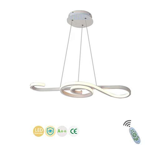 La luz de la nota musical de techo del LED, lámparas de araña regulable 3000K ~ 6500K Comedor luz de techo con techo de control remoto de altura ajustable que cuelga del accesorio de iluminación