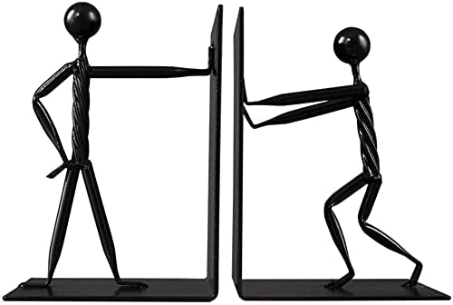 Max 59% OFF Decoration Creative Bookend Dizzy Person Statue Stainless Genuine Duty S