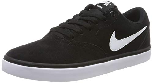Nike SB Check Solarsoft, Chaussures de Skateboard Homme, Noir (Black/White), 41 EU