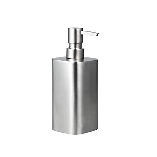 IMEEA 500ml Seifenspender SUS304 Edelstahl Flüssigseifen-Spender, Seifenspender mit Pumpe für Flüssigseife Shampoo Küche Badezimmer